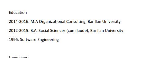 Linkedin Profile Education Sample
